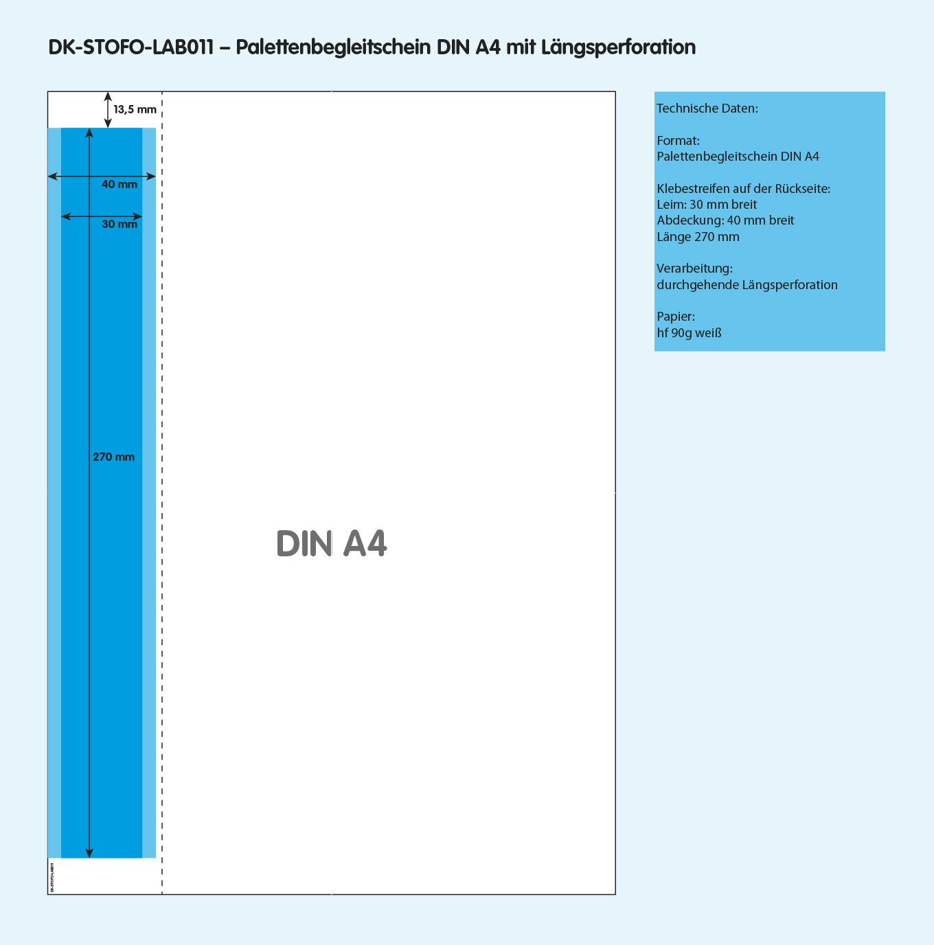 DK-STOFO-LAB011 - technische Zeichnung