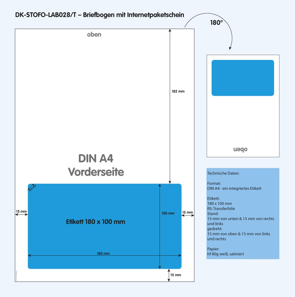 DK-STOFO-LAB028/T - technische Zeichnung