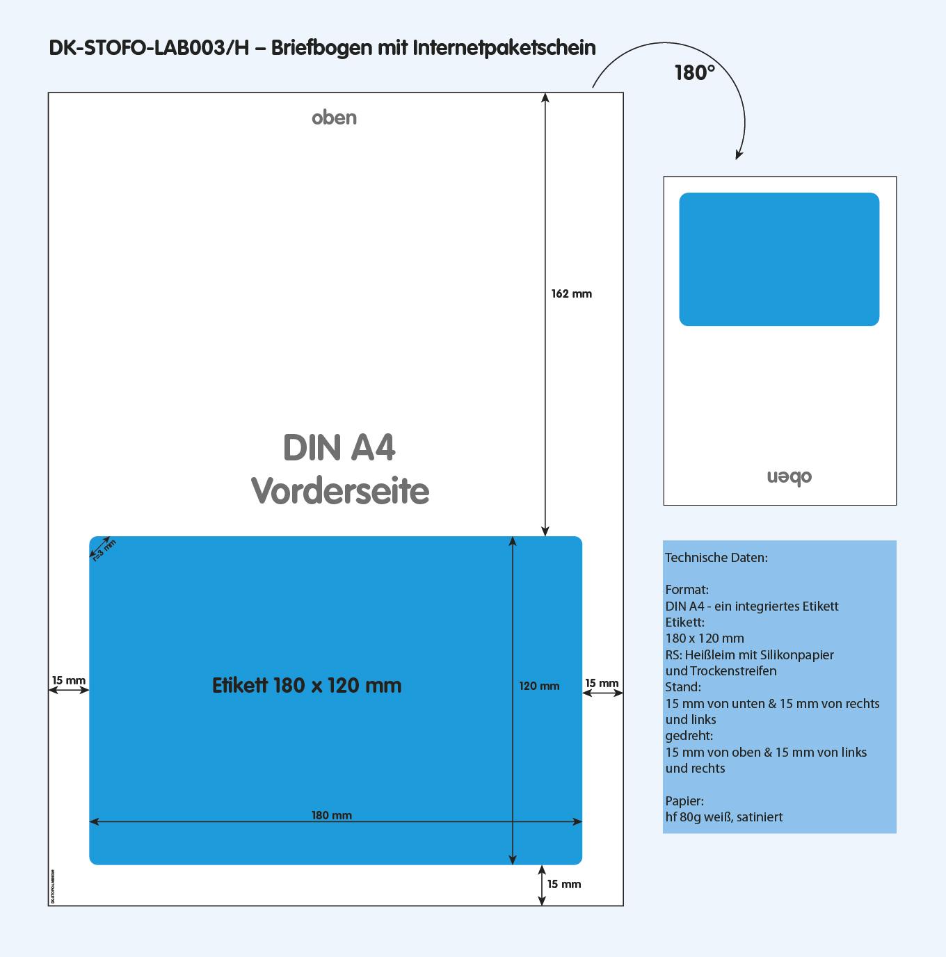 DK-STOFO-LAB003/H - technische Zeichnung