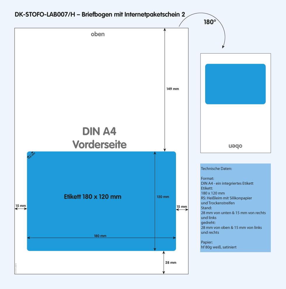 DK-STOFO-LAB007/H - technische Zeichnung